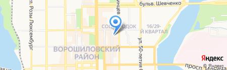 de Famille на карте Донецка