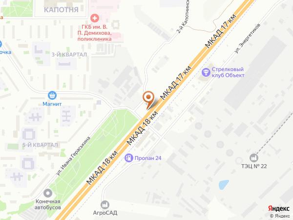 Остановка «ТЭЦ № 22», 18-й километр Московской Кольцевой Автодороги (7819) (Москва)