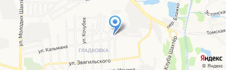 Рессора на карте Донецка