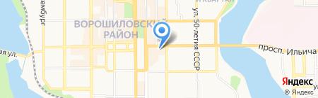 Акцент-Групп на карте Донецка