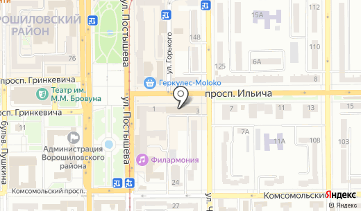 Квартирант. Схема проезда в Донецке