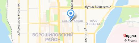 Друзья промоушена на карте Донецка