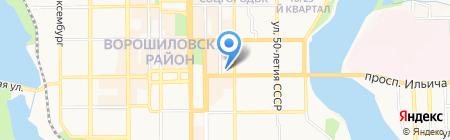 Экосфера на карте Донецка