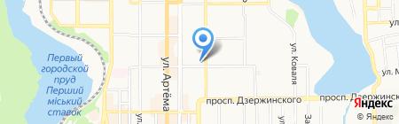 Гермес на карте Донецка