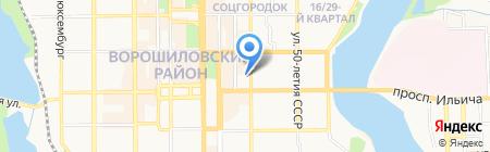 Амулет на карте Донецка