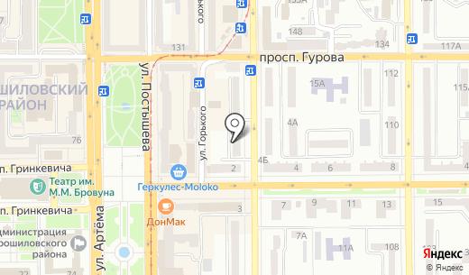 Ковры & Dекор. Схема проезда в Донецке