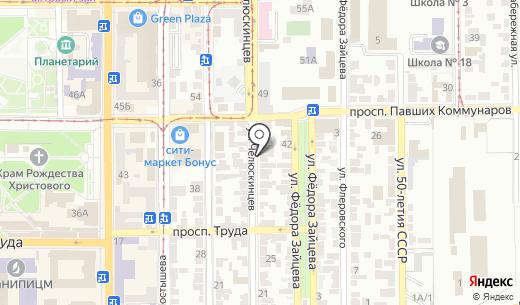 Адвокатский кабинет Булаева В.Л.. Схема проезда в Донецке