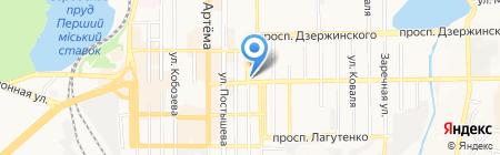 Участковый пункт милиции №4 на карте Донецка