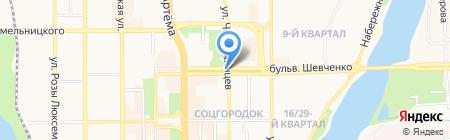 Загар-сервис на карте Донецка