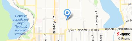 Банкомат VAB Банк на карте Донецка