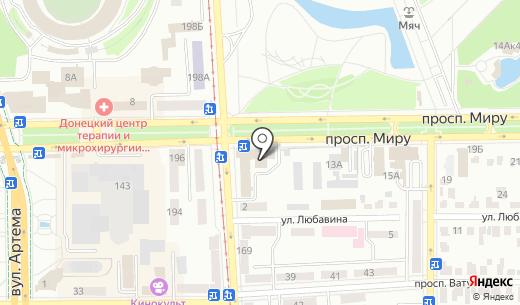 Княжа Vienna Insurance Group. Схема проезда в Донецке