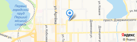 Донецкий военторг на карте Донецка