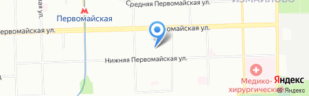 Магазин на Нижней Первомайской на карте Москвы
