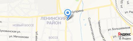Кроха на карте Донецка