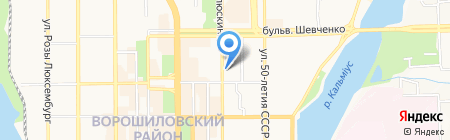 Comics cafe на карте Донецка