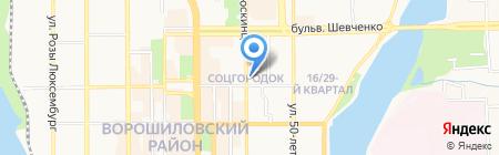 Д`Лор на карте Донецка
