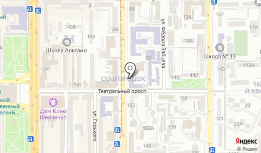 Квадрат. Схема проезда в Донецке
