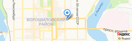 Азбука жилья на карте Донецка