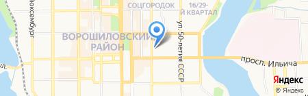 Стимул на карте Донецка