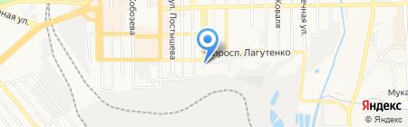 Абрис на карте Донецка