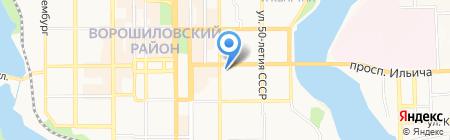 Бьюти центр на карте Донецка