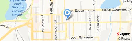 Донецкая компания на карте Донецка