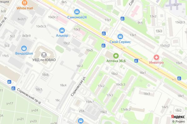 Ремонт телевизоров Улица Сормовская на яндекс карте