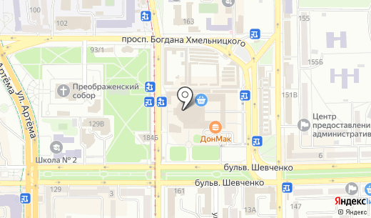 Квант-сервис. Схема проезда в Донецке