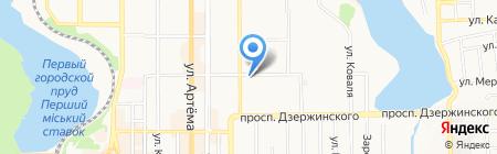 Альфа-Маркет на карте Донецка