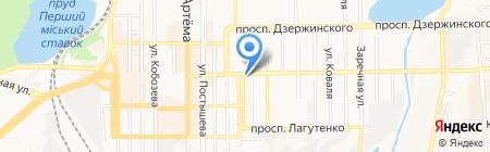 Феникс на карте Донецка