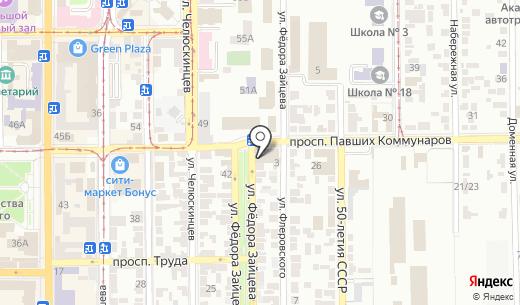 Колесница путешествий. Схема проезда в Донецке