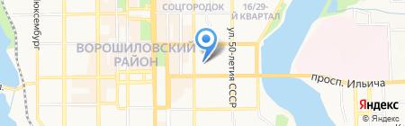 Акварель на карте Донецка