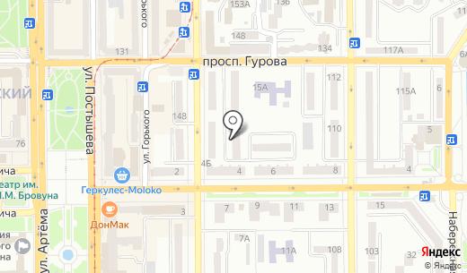 Висмут. Схема проезда в Донецке