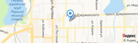 Дружба-плюс на карте Донецка
