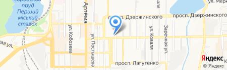 НОВАДОН на карте Донецка