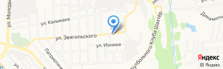 Золушка на карте Донецка