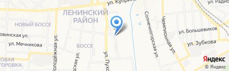 Алмаз на карте Донецка