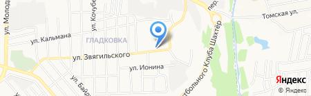 Сам на карте Донецка