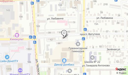 Квипус-консалт. Схема проезда в Донецке