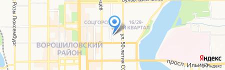 BES на карте Донецка