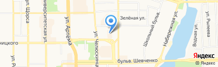 Интер-круг на карте Донецка
