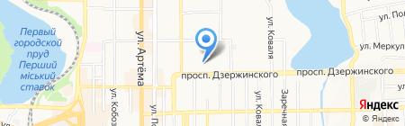 Аюла на карте Донецка