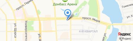 СВАН на карте Донецка