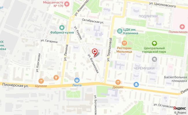 Карта расположения пункта доставки LERNA.RU в городе Королев