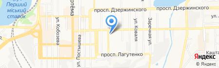 Параллель на карте Донецка