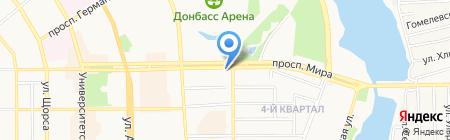 Стандарт Регион Снаб на карте Донецка