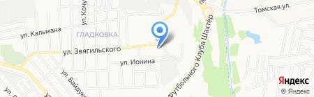 ART на карте Донецка