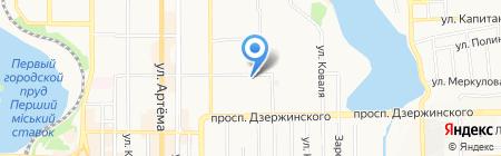 Allure на карте Донецка