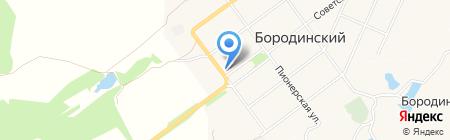 Магазин автотоваров на карте Бородинского