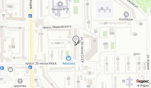 Клио-Сервис. Схема проезда в Донецке